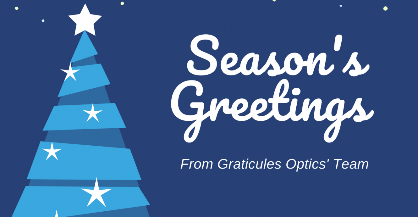 Graticules Optics closed for the season holidays