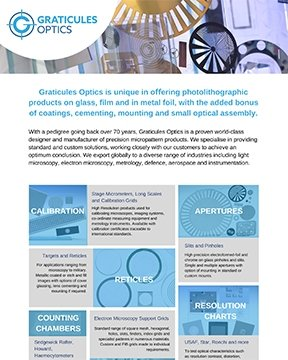 Graticules Optics Flyer