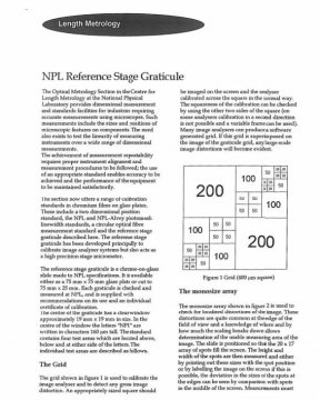NPL Reference Stage Graticule