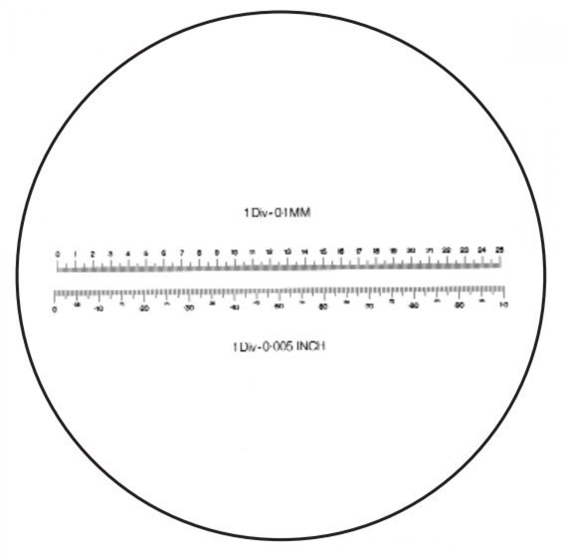 M6T20 Double Scale 25mm/0.1mm and 1''/0.005'' Pattern