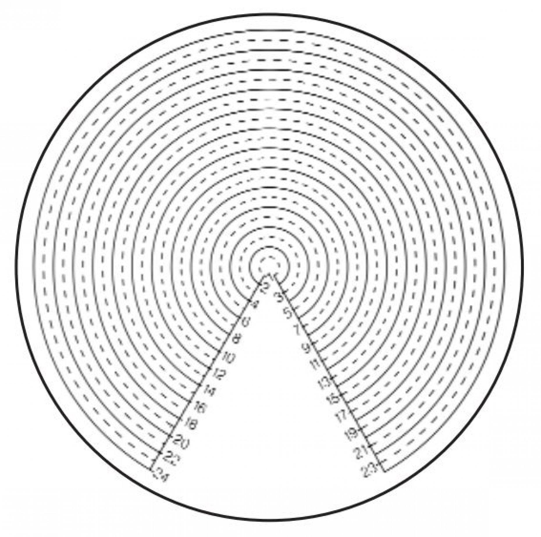 M6T50 Concentric Circles Ø2mm-Ø24mm Pattern