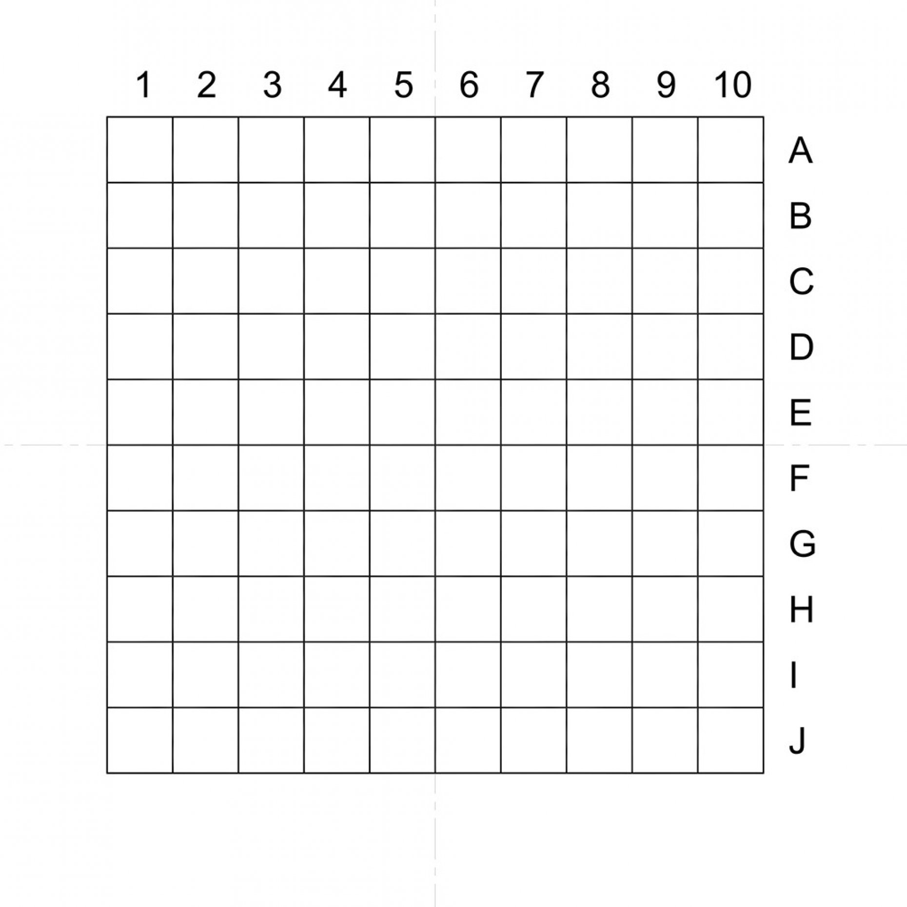 NE10A Indexed Grid 0.5mm Pitch Squares Pattern