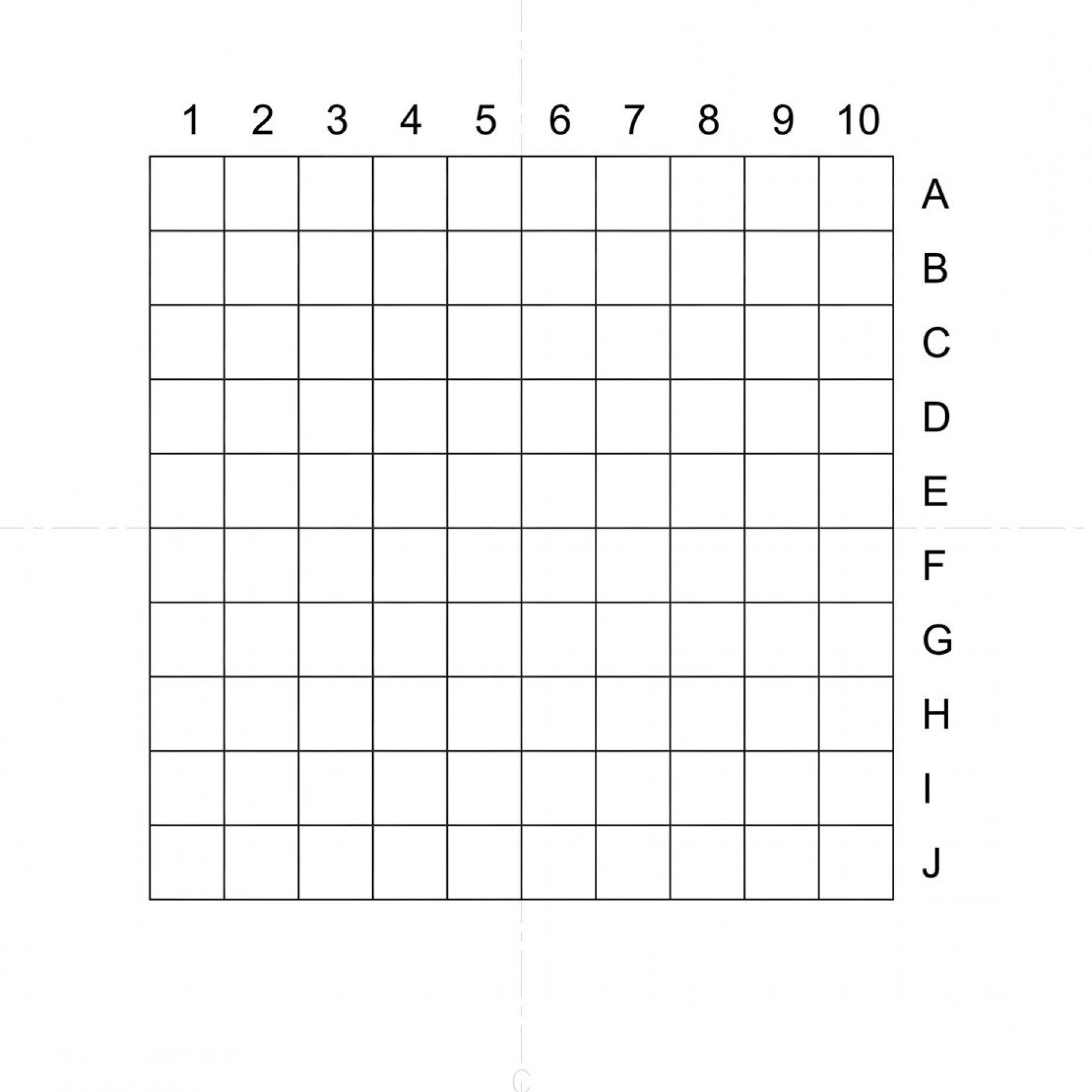 NE11A Indexed Grid 1.0mm Pitch Squares Pattern