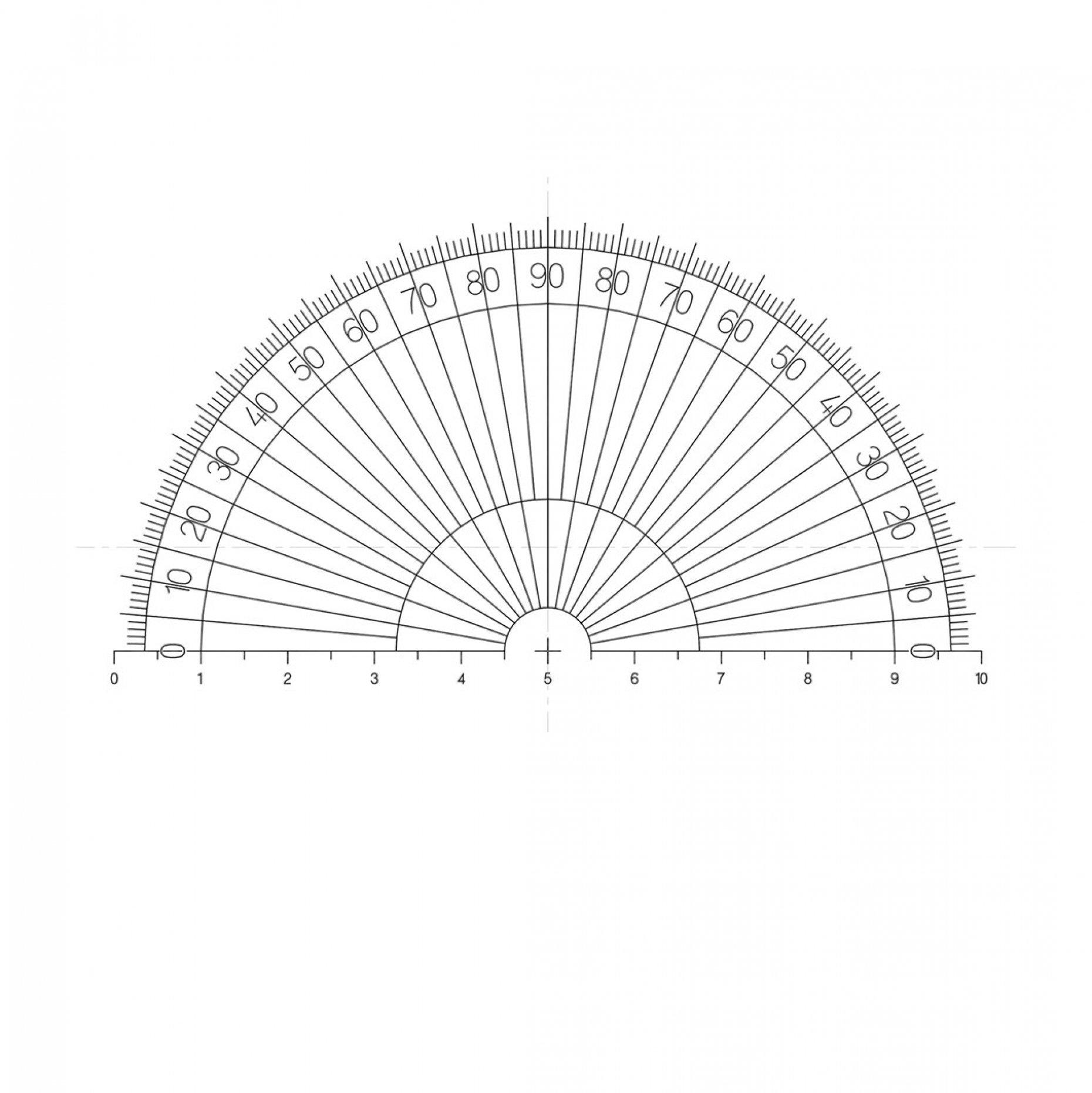 NE25 Half Protractor Pattern