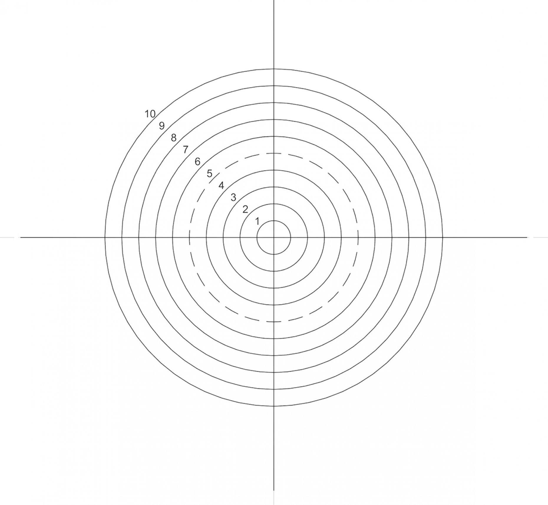 NE42 Concentric Circles 0.25mm-2.5mm Pattern