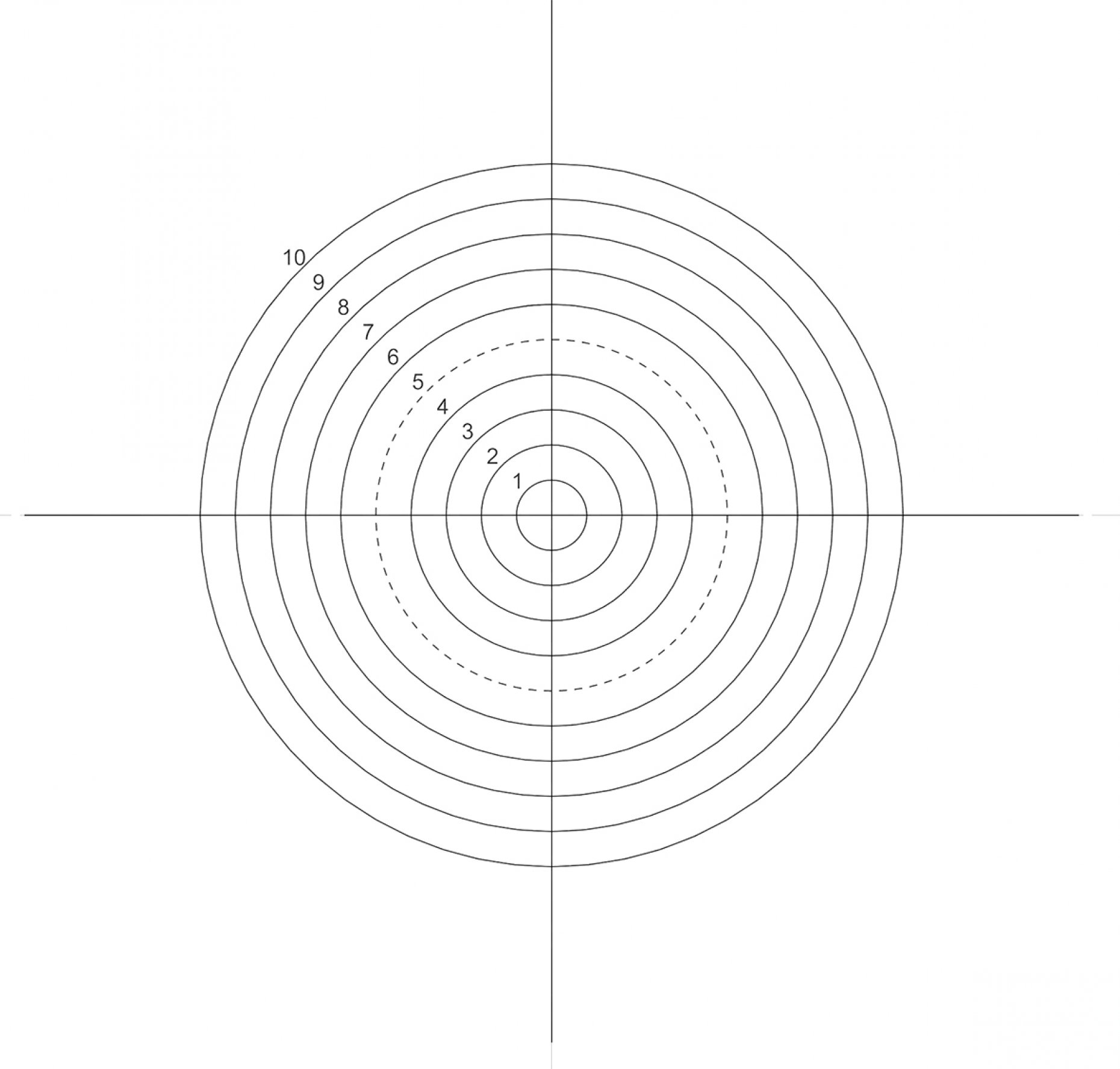 NE43 Concentric Circles 0.5mm-5mm Pattern