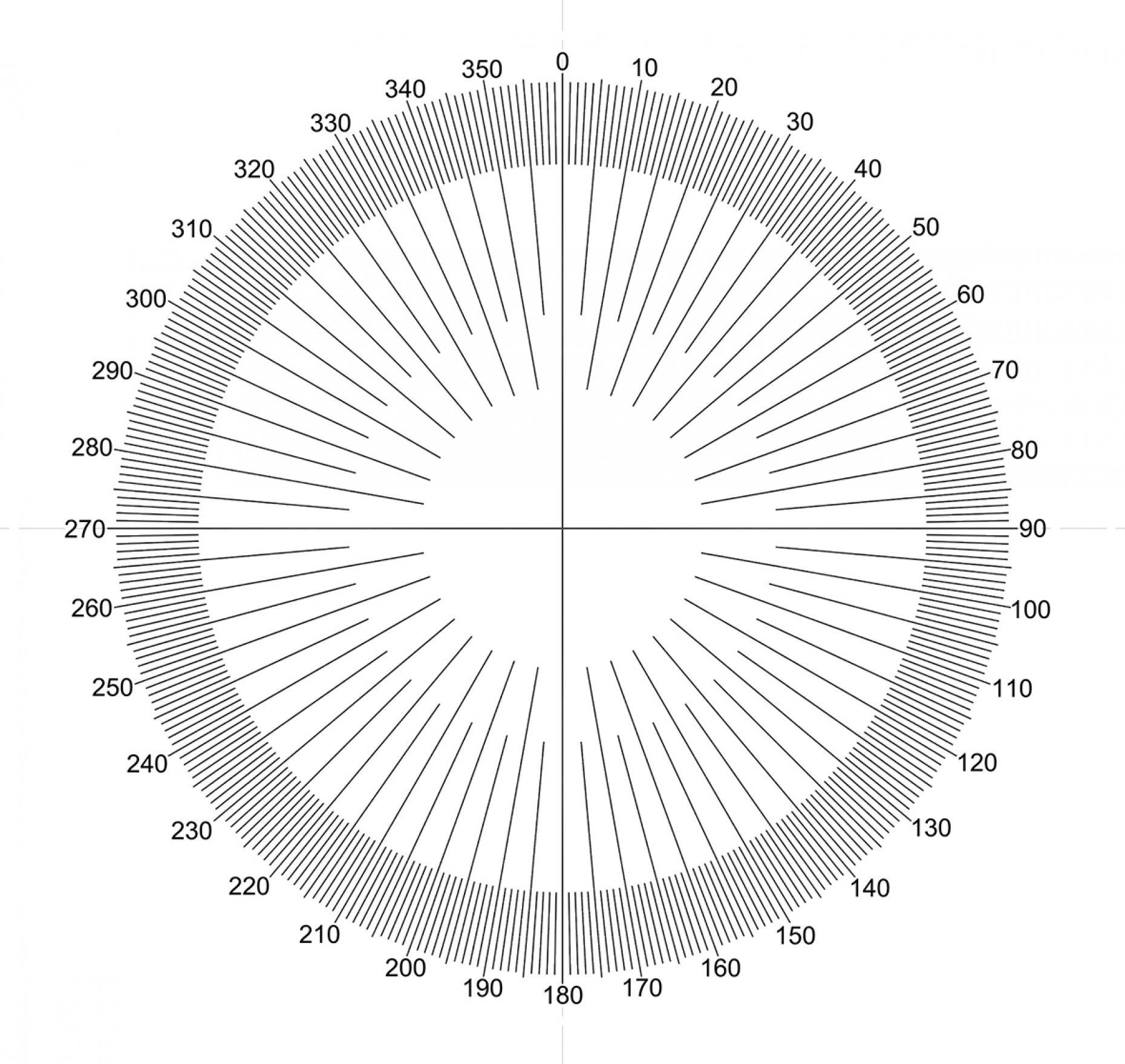 NE45 Full Protractor Pattern