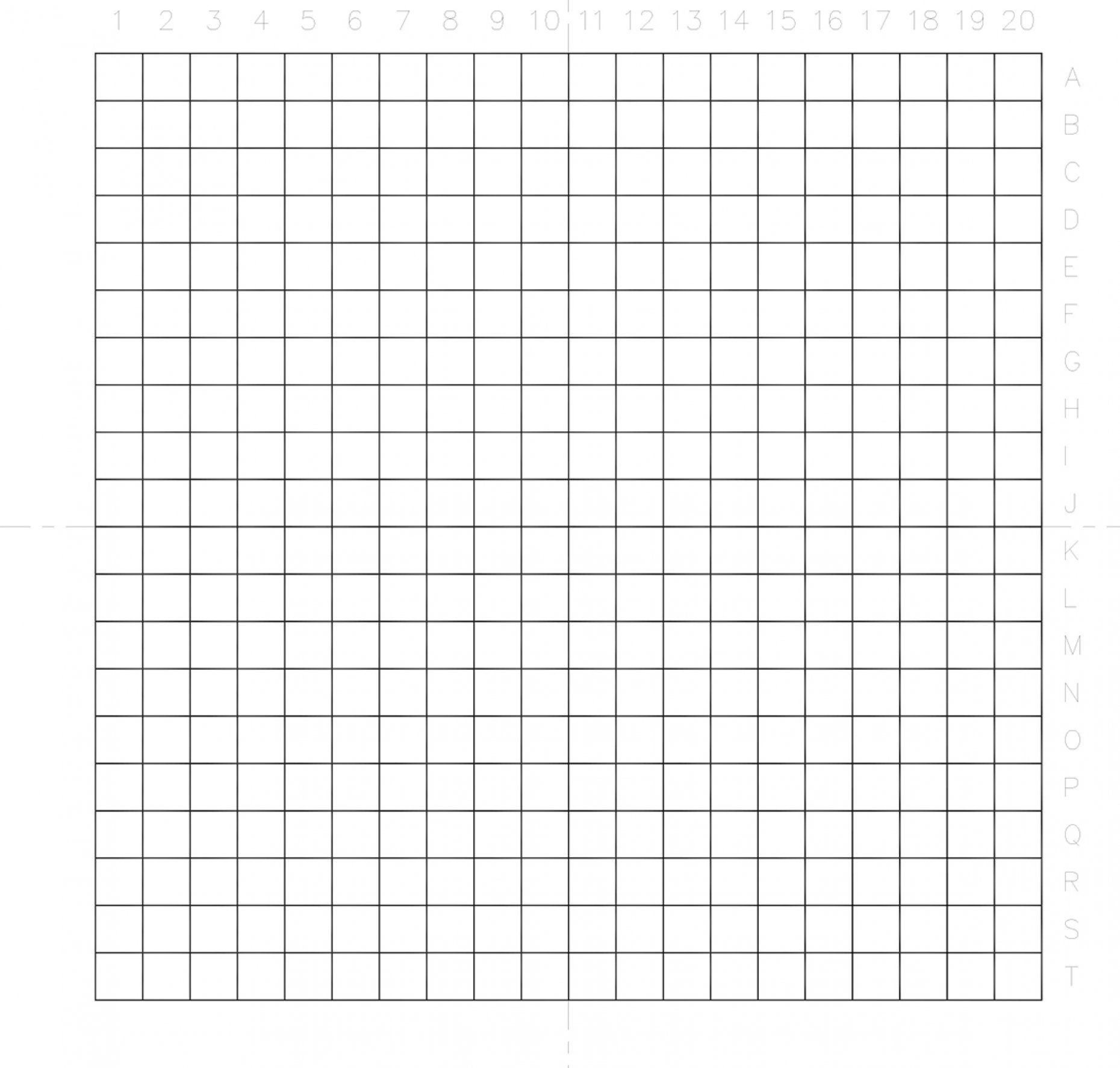NE71  Indexed Grid 0.5mm Squares Pattern