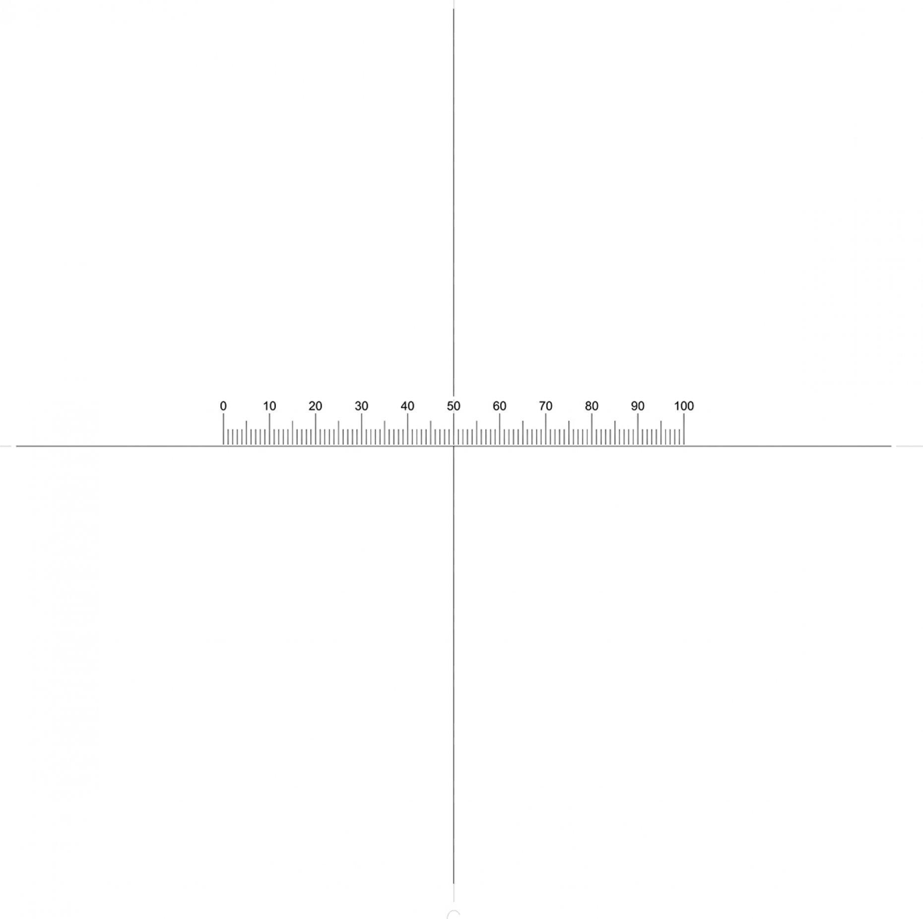 NE77 Horizontal Scale 5mm/0.05mm + Crosslines Pattern