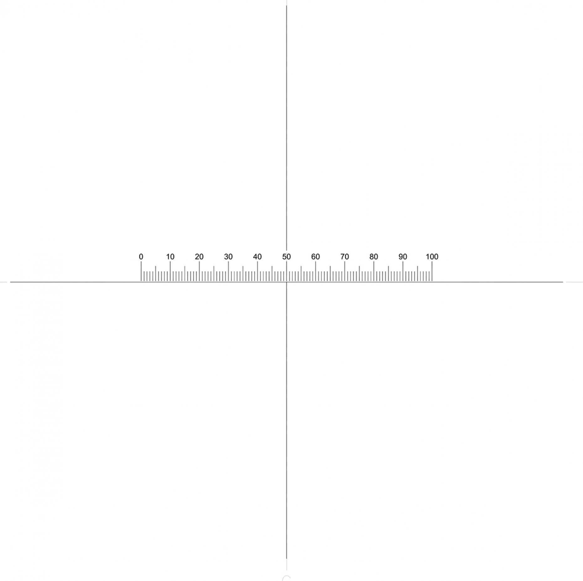 NE777 Horizontal Scale + Crosslines, 0.5''/0.005'' Pattern