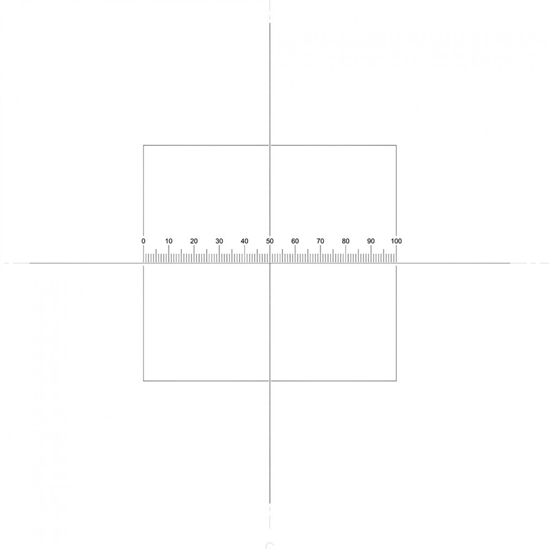 NE7N Horizontal Scale 10mm/0.1mm + Crossline + Square Pattern