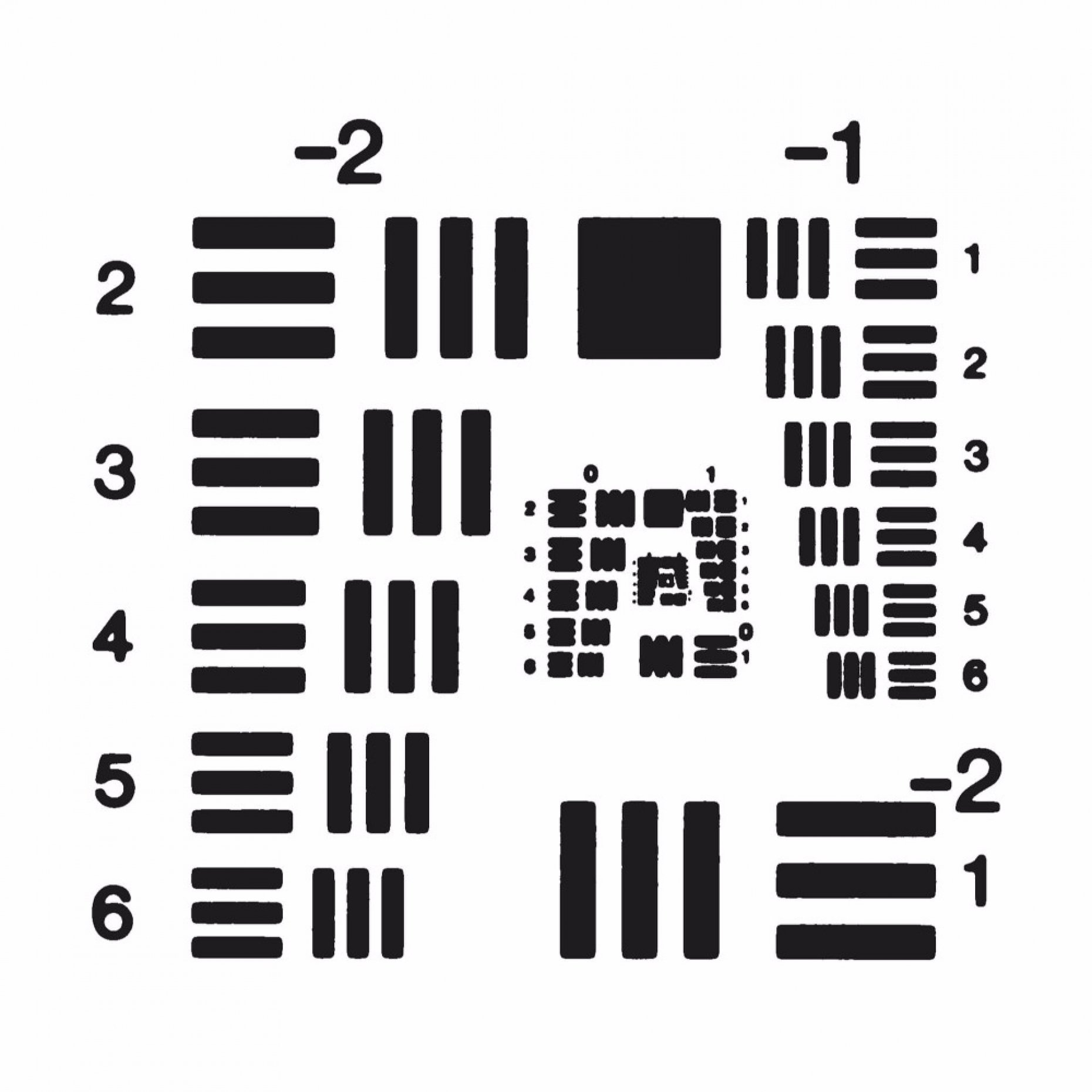 R71 USAF Positive Test Chart Group -2/7 Element 1/6